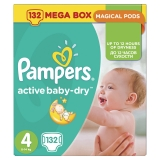 Подгузники Pampers Active Babe Dry №4 Pack 132