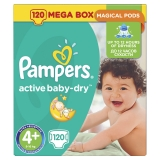 Подгузники Pampers Active Baby Dry №4+ Pack 120 шт