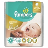 Подгузники Pampers Premium Care Mini S2 80 шт